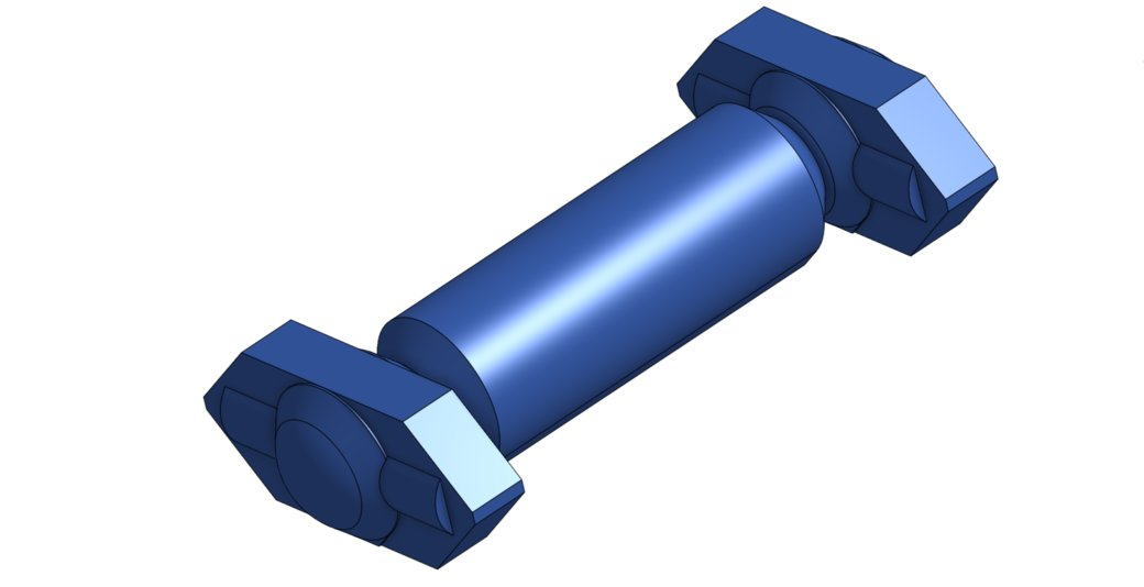 CAD Rendering of shaft