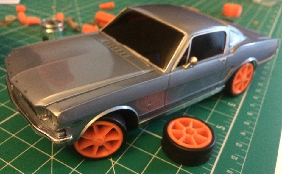 1965 Ford Mustang body on new chassis